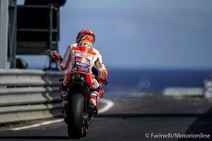 MotoGP | Gp Australia FP3: Nessun miglioramento importante rispetto a ieri, Marquez il più veloce, Rossi 5°