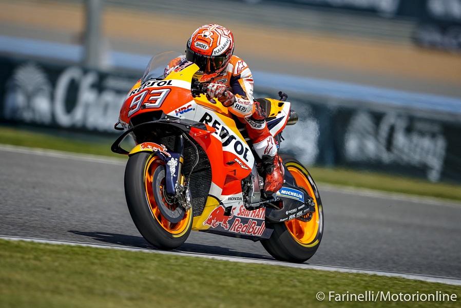 MotoGP | Gp Thailandia Warm Up: Marquez detta il passo, le Yamaha inseguono con Rossi e Vinales