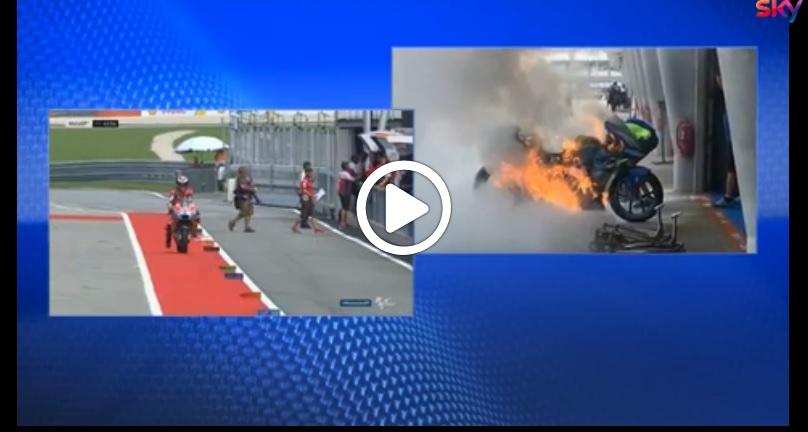 "MotoGP   Gp Malesia: Brivio (Suzuki), ""Moto in fiamme per una perdita di benzina"" [Video]"