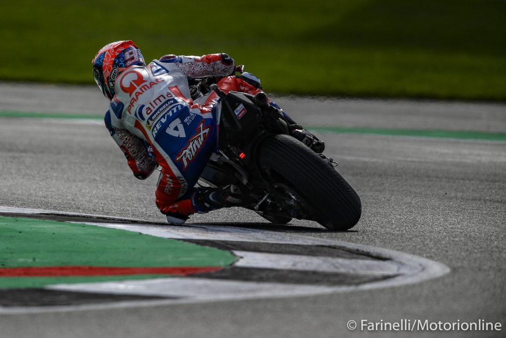 MotoGP | Gp Valencia FP2: Petrucci detta il passo sul bagnato, Marquez in scia