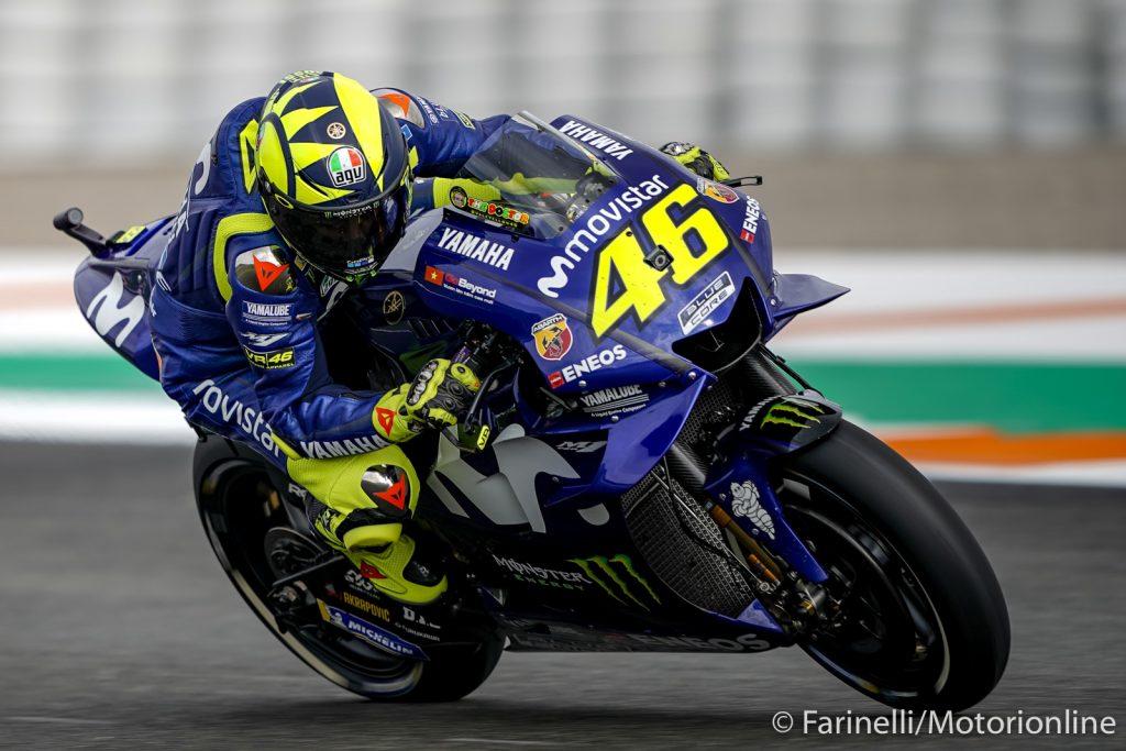 """MotoGP   Valencia Test Day 1: Rossi, """"Il nuovo motore ha dato buoni risultati"""""""
