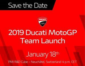 MotoGP | Ducati presenterà la nuova moto il 18 gennaio
