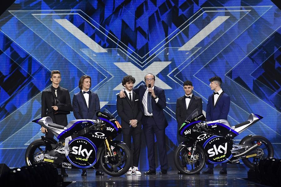 Moto2 e Moto3 | Sky Racing Team VR46 ha svelato la livrea 2019 in occasione della finale di X Factor