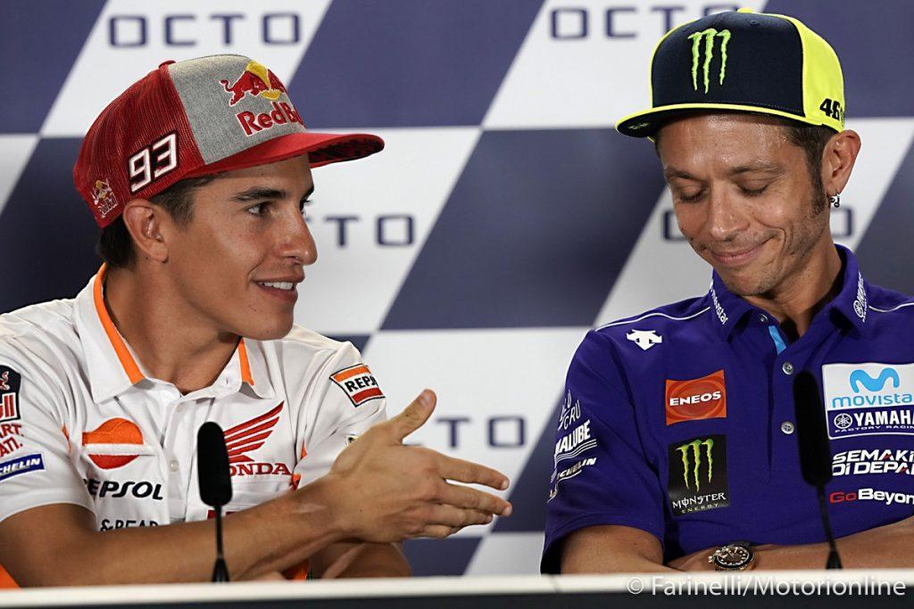 "MotoGP | Marquez: ""Stringere la mano a Rossi? No, gliel'ho già data"""