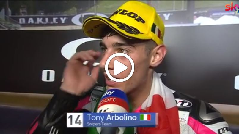 "Moto3 | GP Mugello Gara: Arbolino, ""Weekend incredibile"" [VIDEO]"