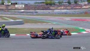 "MotoGP | Gp Barcellona Gara: Lorenzo, ""Mi dispiace, ma capita nelle curve così"""