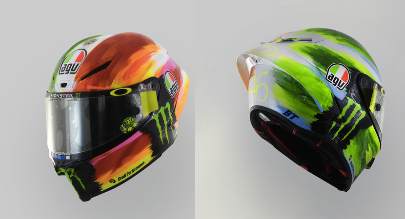 MotoGP | Gp Mugello: Il casco speciale di Valentino Rossi [VIDEO]