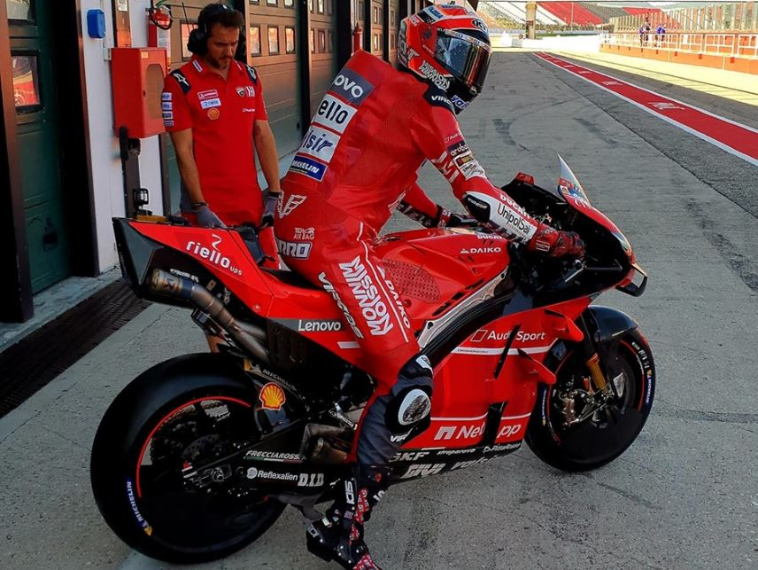 MotoGP   Ducati in pista a Misano con Michele Pirro