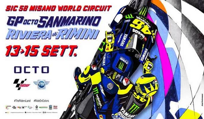 MotoGP | Manifesto Misano, omaggio a Valentino Rossi