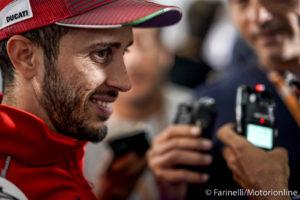 """MotoGP   Gp Silverstone Conferenza Stampa: Dovizioso, """"Ho rivisto il GP d'Austria 5 volte"""" [VIDEO]"""