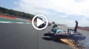 MotoGP   Gp Silverstone: Sky Tech, l'incidente tra Dovizioso e Quartararo [VIDEO]