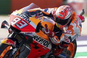 MotoGP | Gp Misano FP4: Marquez, miglior tempo e caduta, Rossi è sesto