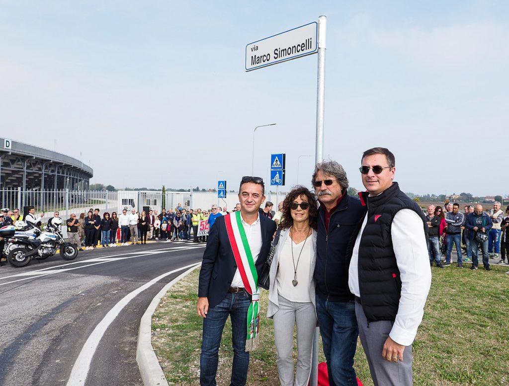 Inaugurata a Misano la strada intitolata a Marco Simoncelli