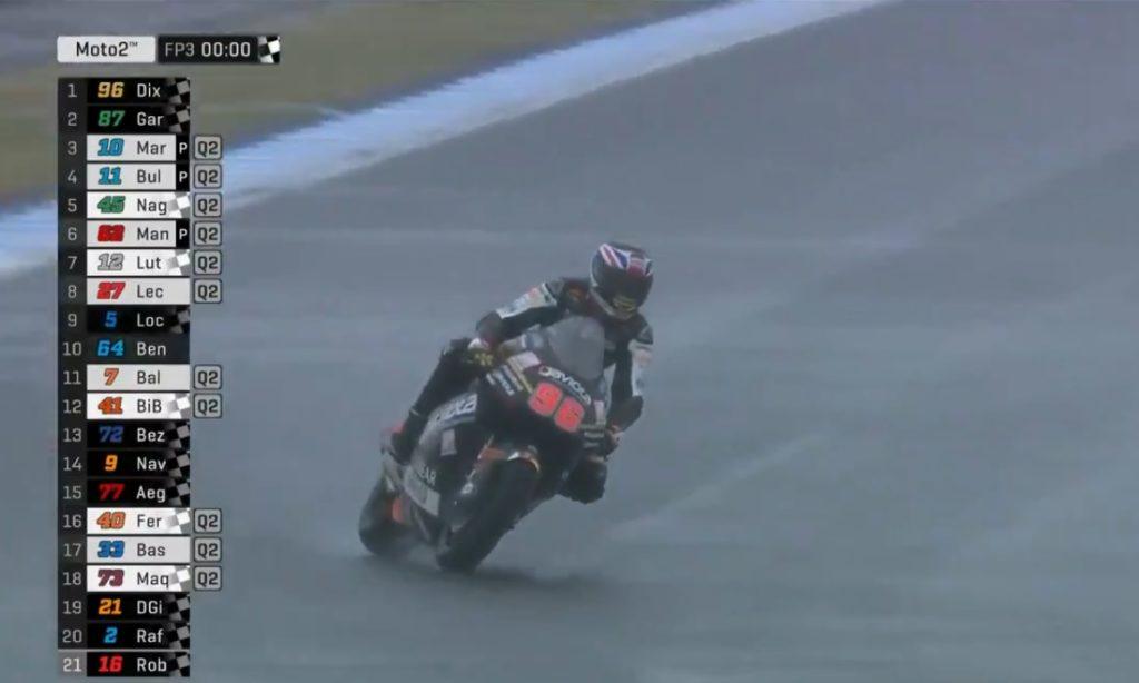 Moto2 | Gp Giappone FP3: Dixon detta il ritmo sotto la pioggia