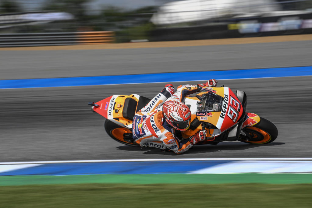 MotoGP | Gp Thailandia Warm Up: Marquez braccato dalle Yamaha