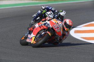 MotoGP | Gp Valencia Warm Up: Marquez davanti a Vinales