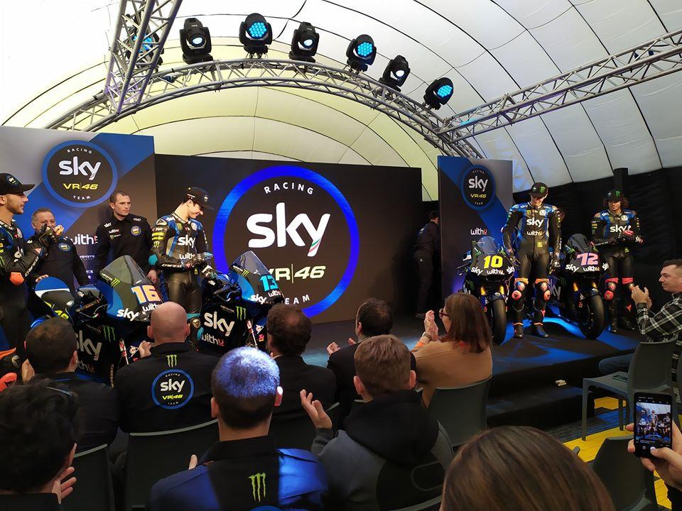 """Presentazione Sky Racing Team VR46, Salucci: """"Le pause sono poche, giusto così"""""""