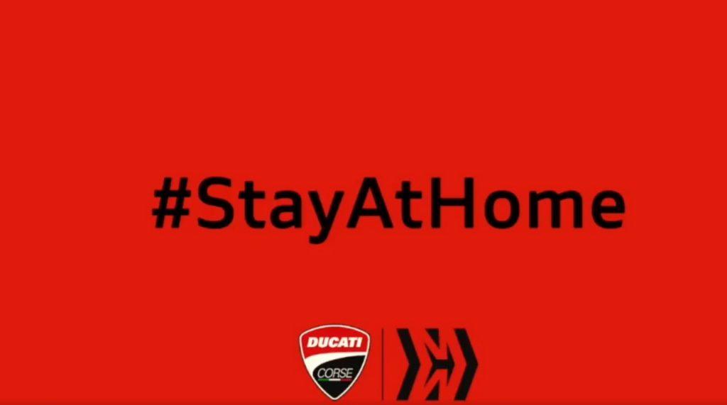 MotoGP | Coronavirus: Ducati Corse invita tutti a stare a casa [VIDEO]