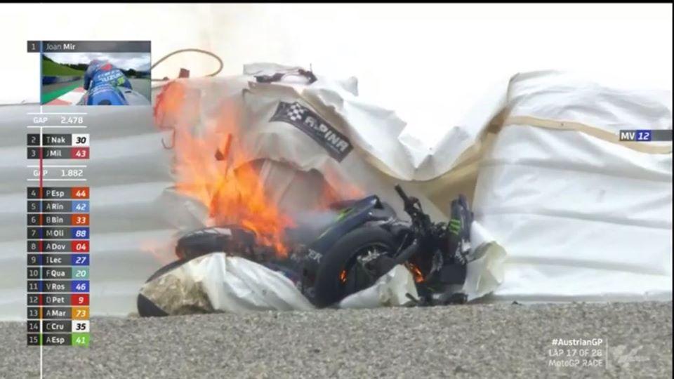 MotoGP   Gp Austria 2: Paura per Vinales, senza freni a oltre 200km/h [VIDEO]