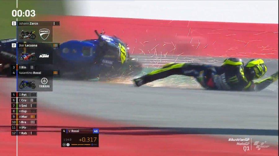 """MotoGP   Gp Austria 2 Qualifiche: Valentino Rossi, """"Marquez ha dimostrato che anche noi siamo umani"""" [VIDEO]"""
