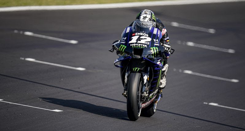 """MotoGP   Gp Misano Test: Maverick Vinales, """"Le nuove parti forse mi possono aiutare a guadagnare qualcosa"""""""