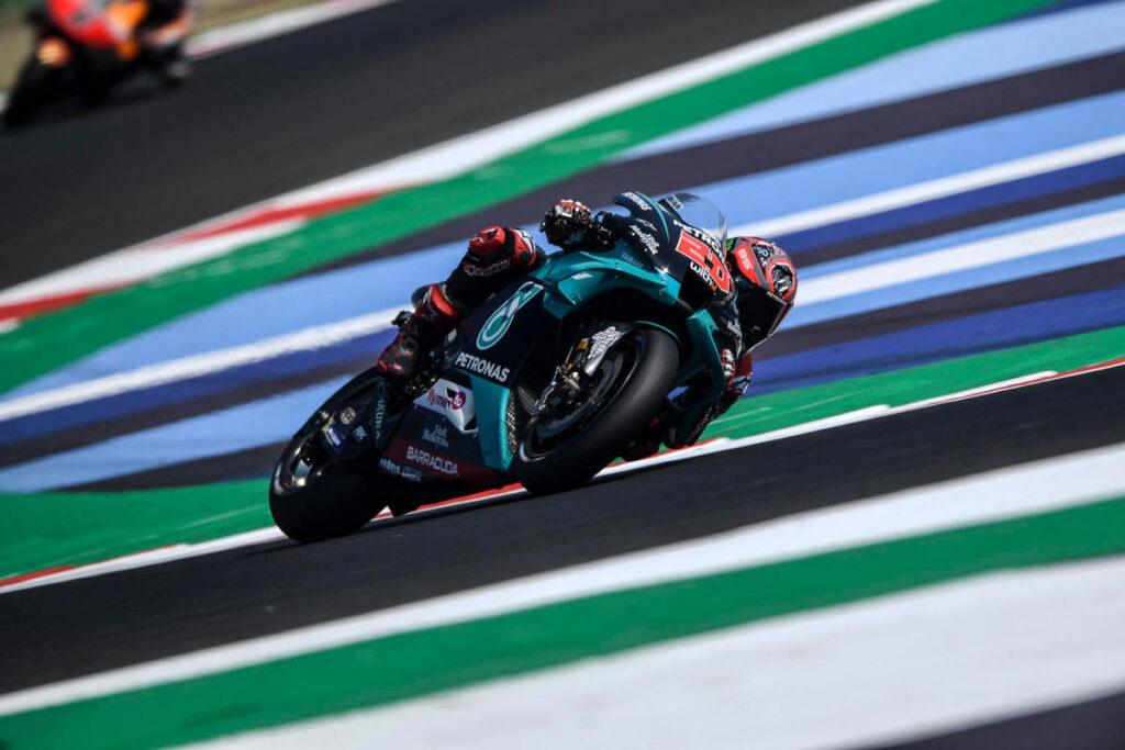 MotoGP   Gp Misano 2 FP1: Quartararo precede Morbidelli, Rossi nelle retrovie
