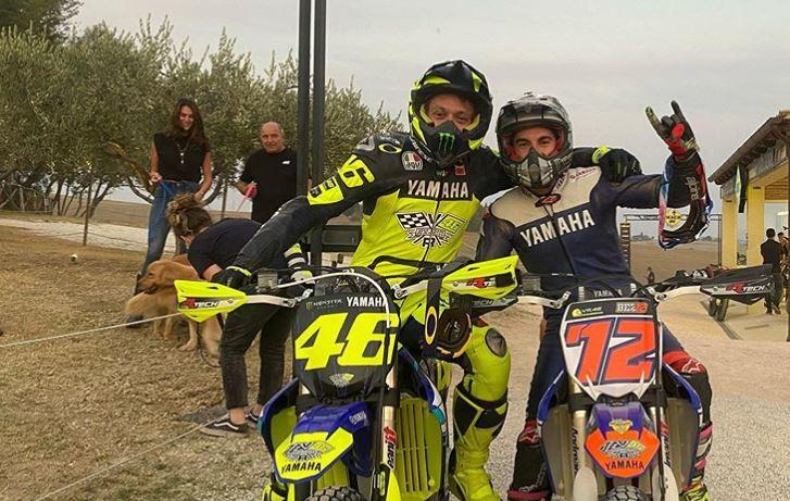 MotoGP   Maverick Vinales si allena al Ranch con Valentino Rossi