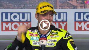 """Moto2   GP Aragon 2 Gara, Di Giannantonio: """"A Valencia vogliamo vincere"""" [VIDEO]"""