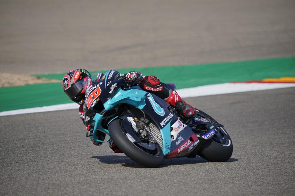 """MotoGP   Gp Aragon Gara: Fabio Quartararo, """"Sarebbe stato peggio se Mir avesse vinto"""" [VIDEO]"""
