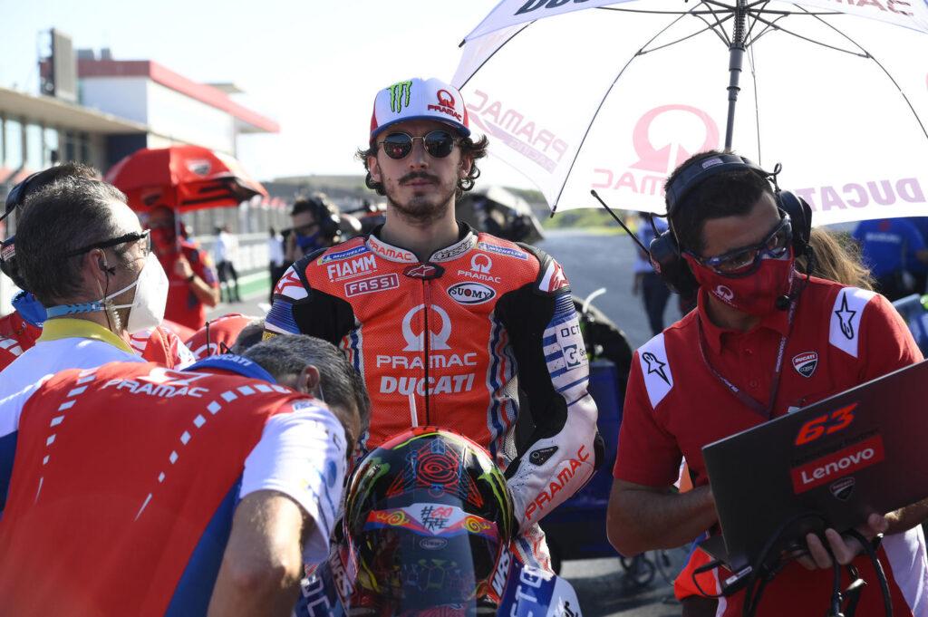 "MotoGP | Gp Portimao Gara: Francesco Bagnaia, ""Non avrei voluto concludere così la mia ultima gara con Pramac"""