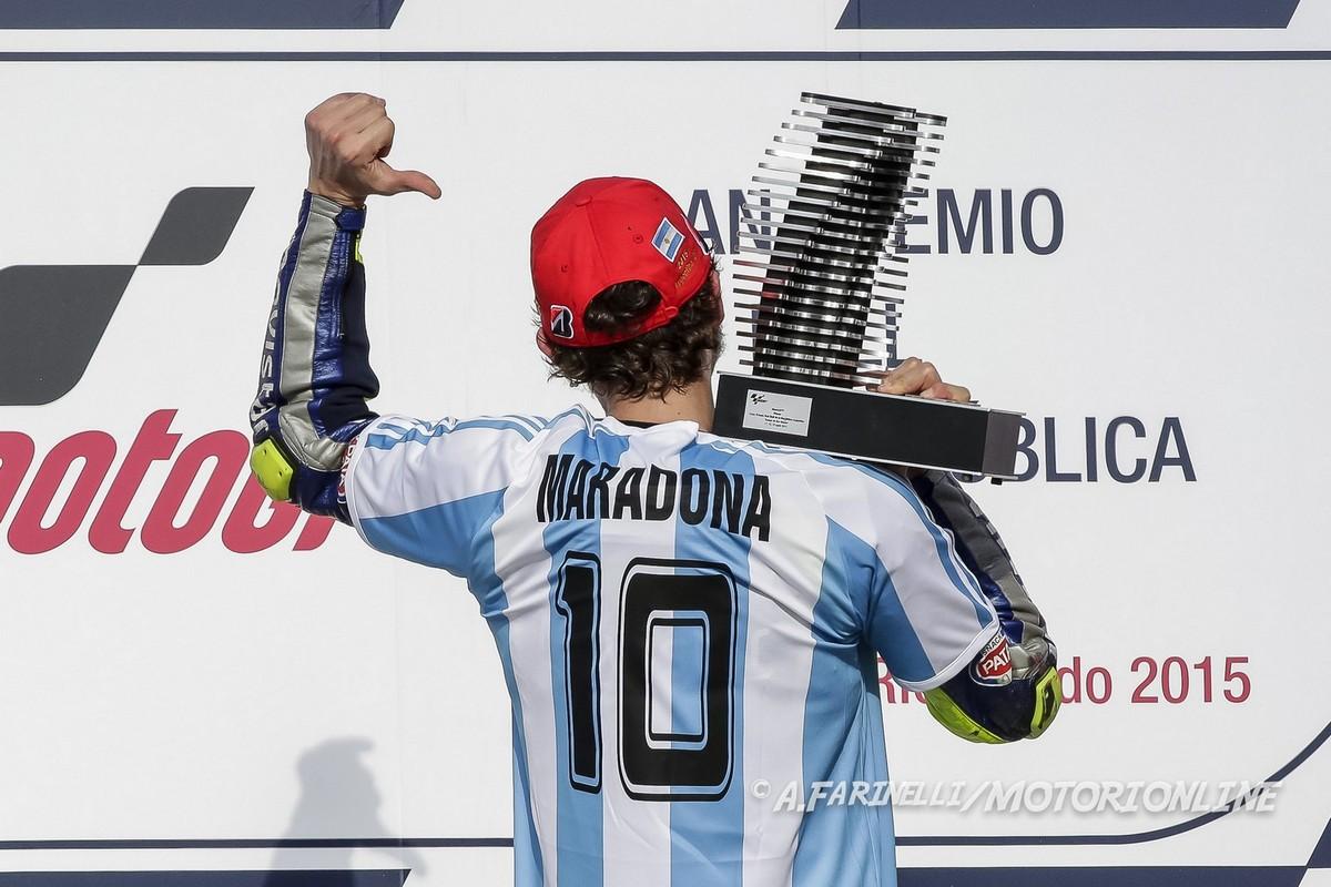 Ricordo Diego Armando Maradona di Valentino Rossi