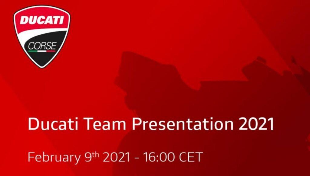 MotoGP | Il prossimo 9 febbraio sarà presentato il Ducati Team 2021