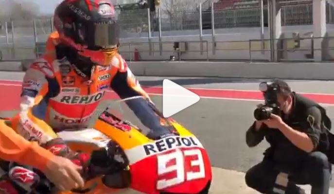 MotoGP | Marc Marquez in pista a Barcellona con la RC213V-S [VIDEO]