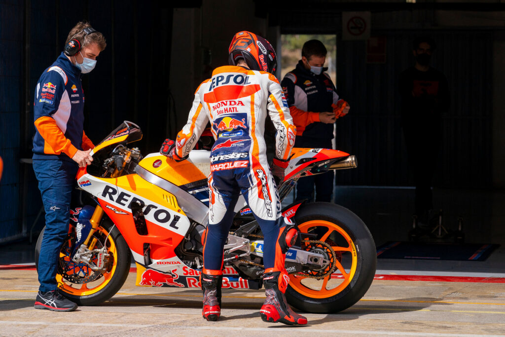 MotoGP | Marc Marquez in pista con la RC213V-S [VIDEO E FOTO]