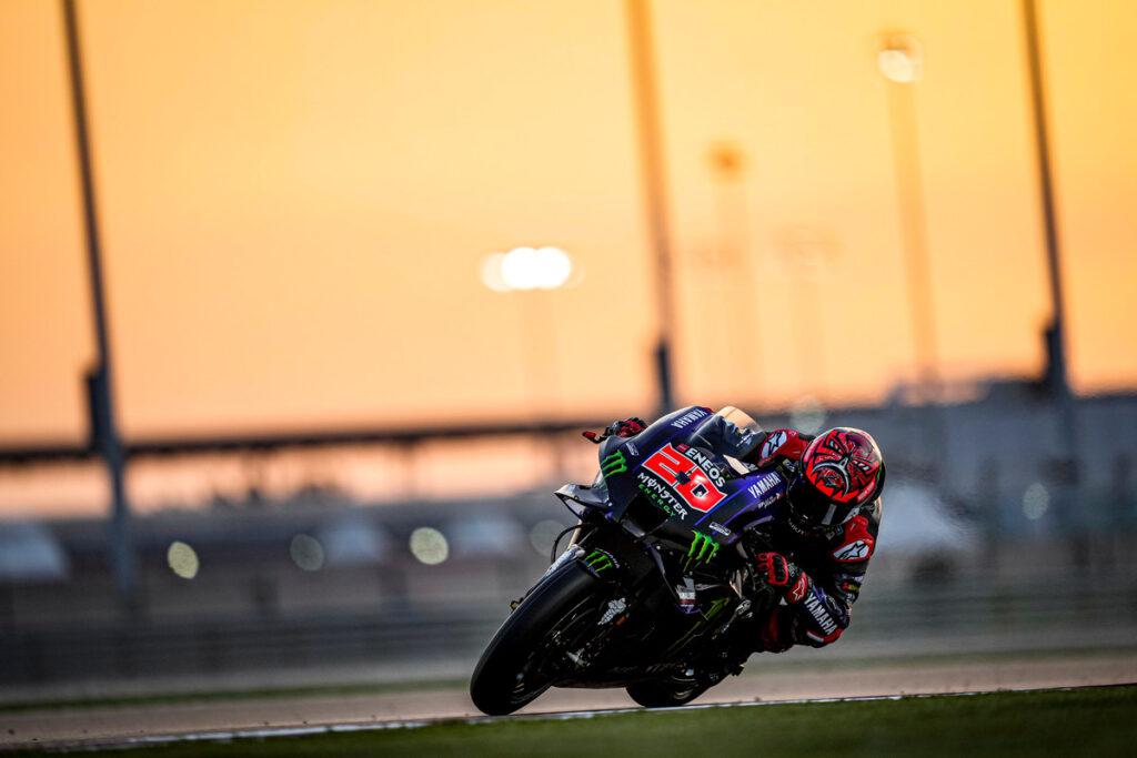 MotoGP | Test Qatar Day 2: Quartararo chiude al comando, Rossi nelle retrovie