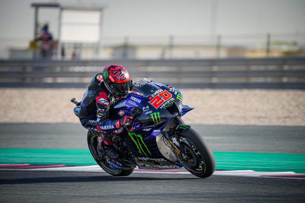 MotoGP | Gp Qatar Warm Up: Yamaha al Top con Quartararo e Vinales, Bastianini è settimo