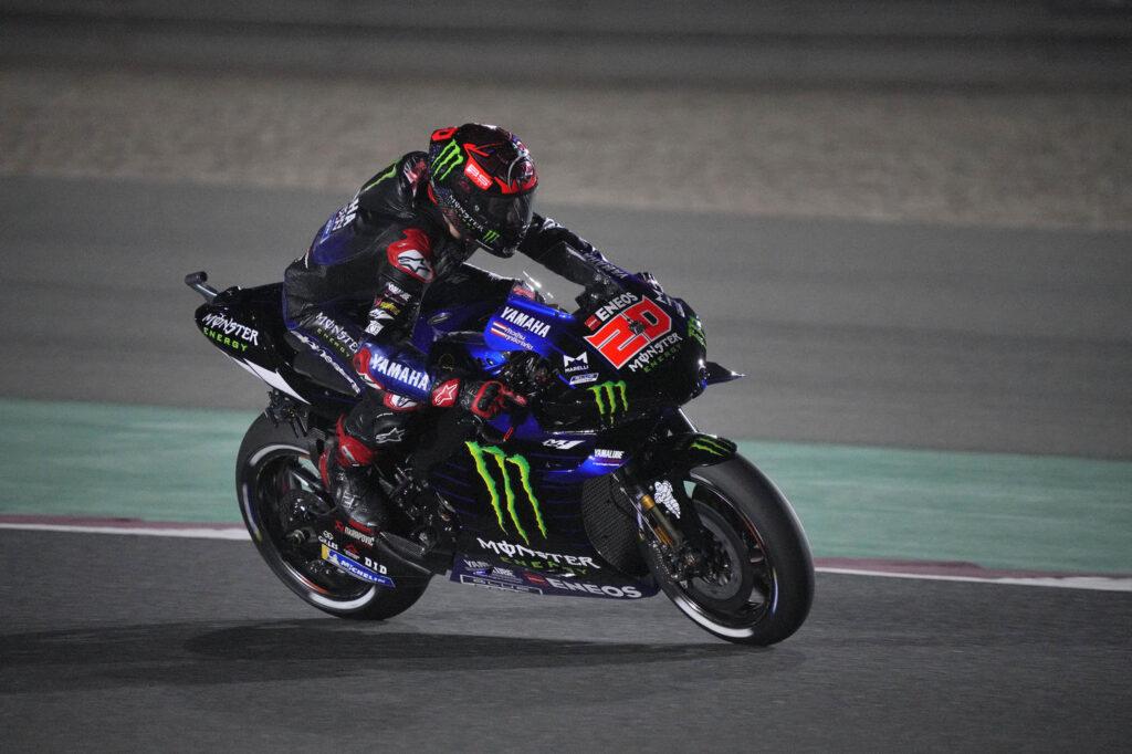 "MotoGP | GP Qatar 2 Day 1: Fabio Quartararo, ""È stata dura, ero al limite"""
