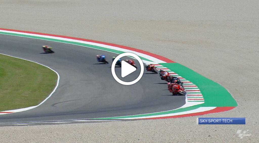 MotoGP   GP Mugello, l'analisi della caduta di Bagnaia al terzo giro [VIDEO]
