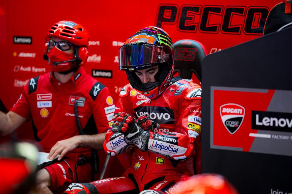 "MotoGP   GP Mugello Gara: Bagnaia, ""Ero scosso, oggi non si doveva correre"""