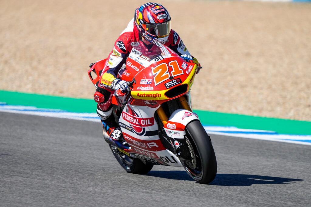 Moto2 | Gp Jerez Warm Up: Di Giannantonio il migliore, brutta caduta per Celestino Vietti