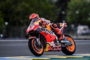 MotoGP | Gp Le Mans FP3: meteo protagonista, Marquez il migliore, Bagnaia costretto alla Q1