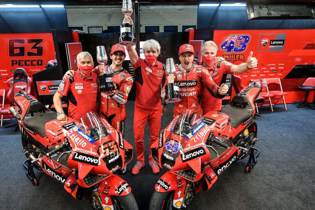 "MotoGP | GP Jerez: Dall'Igna (Ducati), ""Gara eccezionale di Miller e Bagnaia"" [VIDEO]"