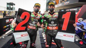 Superbike   Round Aragon, Tissot Superpole Race: Rea domina anche il meteo
