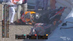 MotoGP | GP Jerez FP3:  Marc Marquez, brutta caduta, moto distrutta, pilota ok [VIDEO]