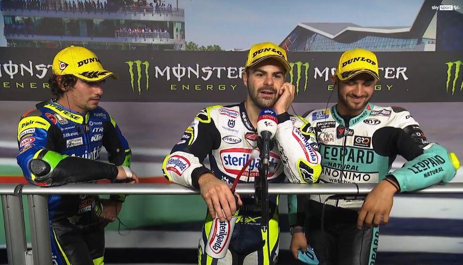 Moto3   GP Silverstone, podio tricolore: le parole di Fenati, Antonelli e Foggia [VIDEO]