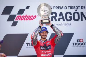 "MotoGP   GP Aragon Gara: Bagnaia, ""Vittoria emozionante"""