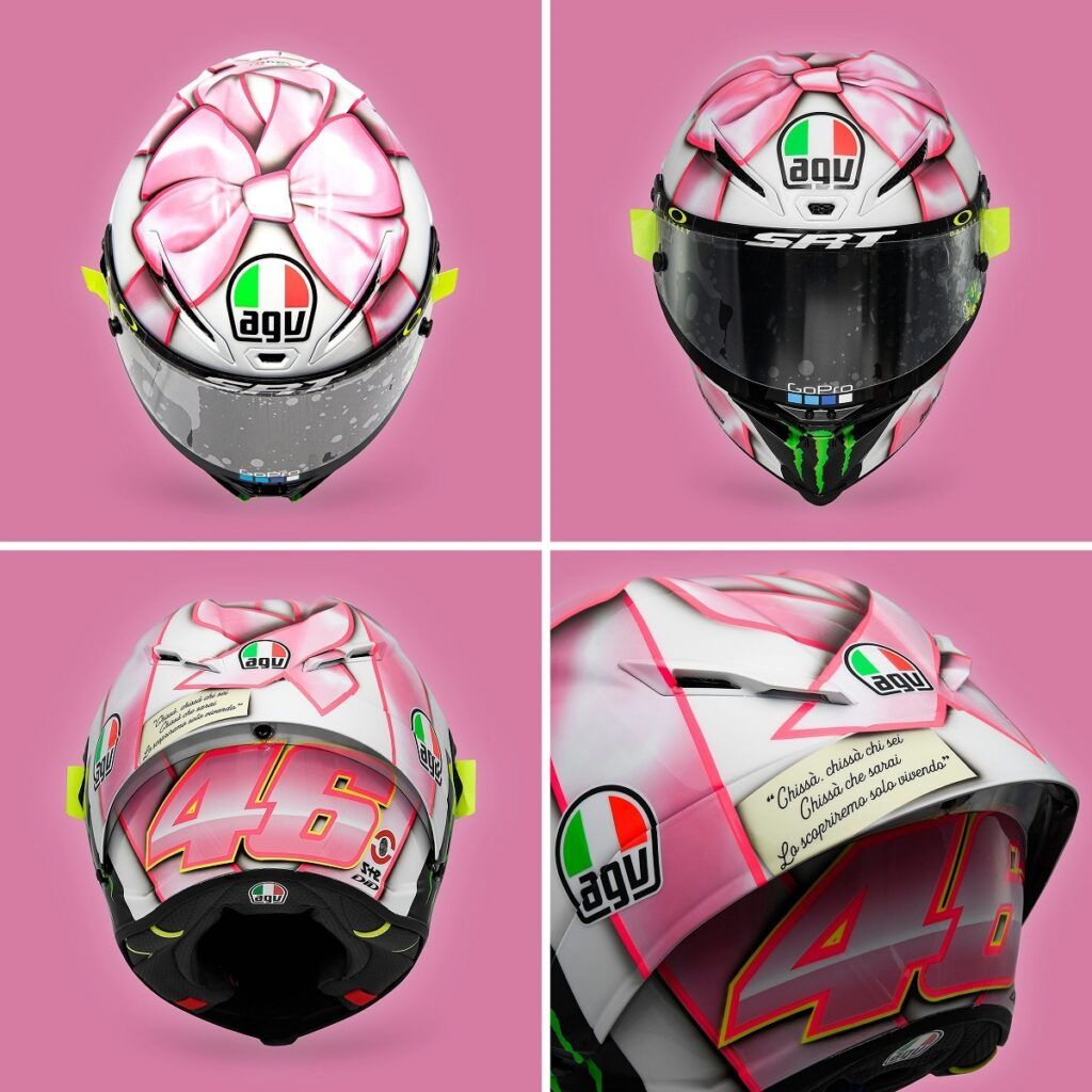 """MotoGP    Gp Misano : Valentino Rossi dévoile le casque spécial """"C'est une fille"""" [PHOTO & VIDEO]"""
