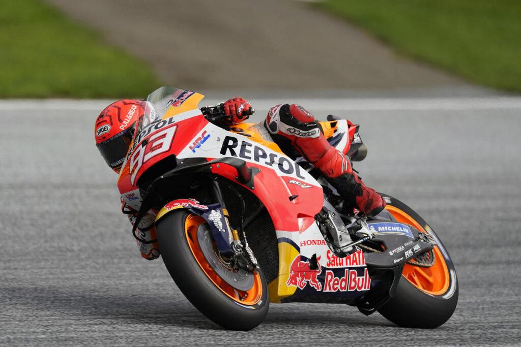 MotoGP | Gp Aragon FP1: Marc Marquez al Top, Bagnaia è terzo