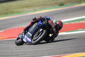 """MotoGP   GP Aragon Gara: Quartararo, """"Durante la gara è successo qualcosa di strano"""""""