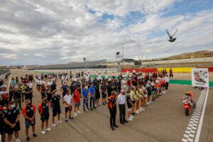 Aragon | Il paddock rende omaggio a Hugo Millán